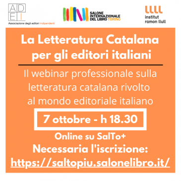 Il Webinar ADEI dedicato alla Letteratura Catalana